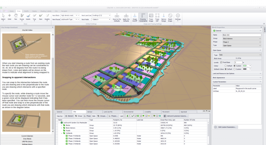 Screenshot of CityCAD 3.0